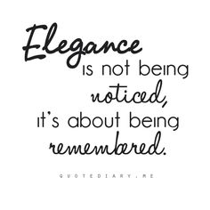 Elegance Style Remembered